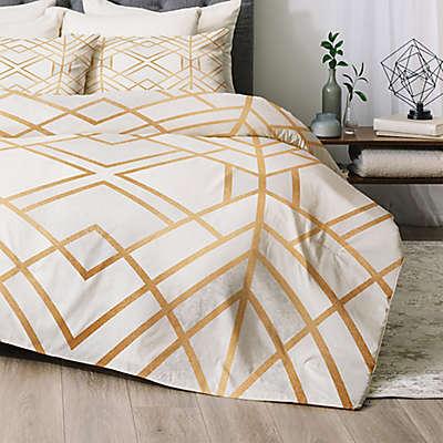 Deny Designs Golden Geo Comforter Set