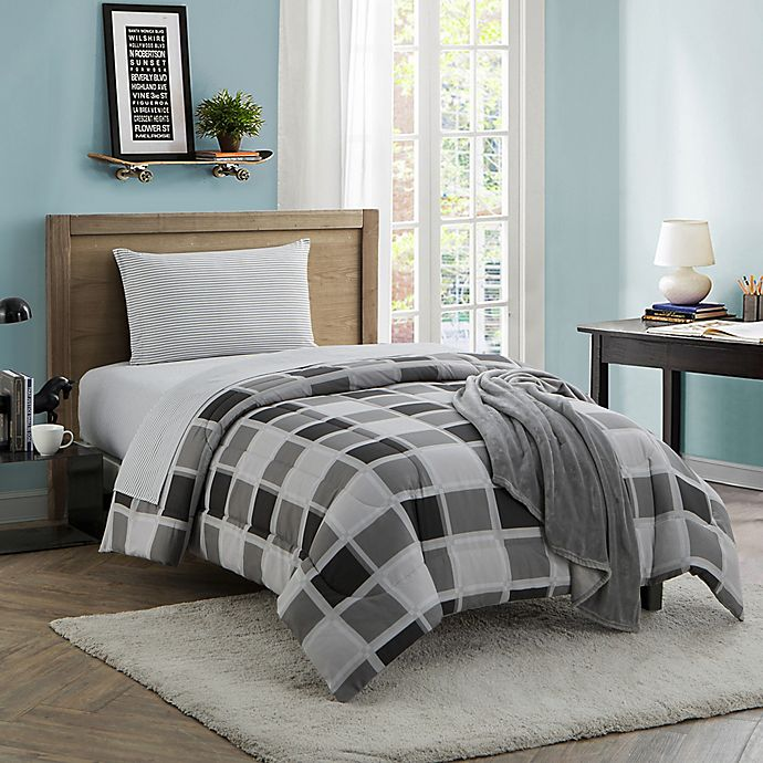 Dustin 16 Piece Twin Twin Xl Comforter Set In Grey Bed Bath And