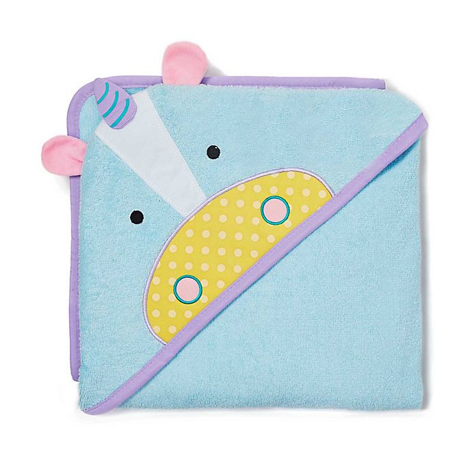 Alternate image 1 for SKIP*HOP® Zoo Unicorn Hooded Towel