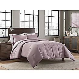 Garment Washed Solid Comforter Set
