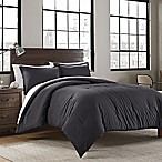Garment Washed Solid Full/Queen Comforter Set in Iron