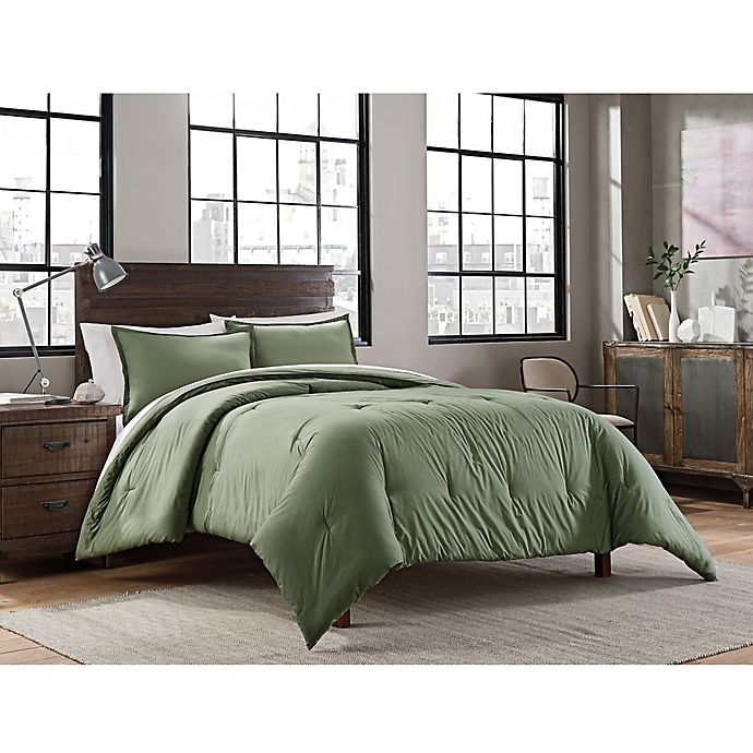 Alternate image 1 for Garment Washed Solid 2-Piece Twin/Twin XL Comforter Set
