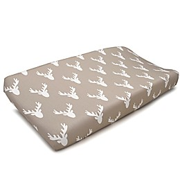 Liz and Roo Buck Woodland Changing Pad Cover in Taupe