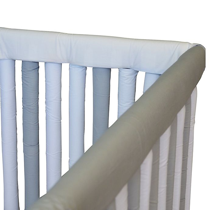 Alternate image 1 for Go Mama Go 52-Inch x 12-Inch Teething Guard in Grey/White
