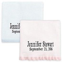 Elegant Baby® Striped Fine Gauge Knit Blanket