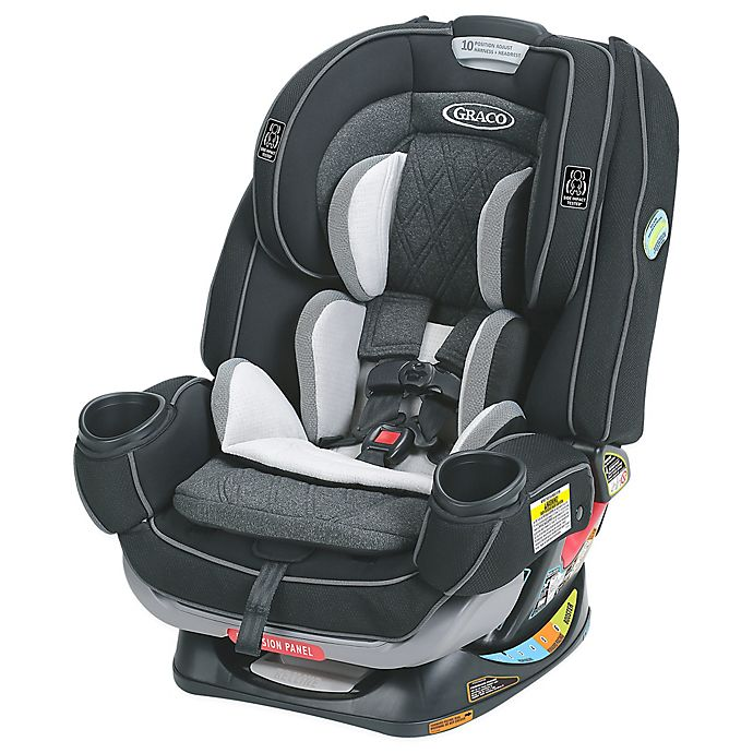 Alternate image 1 for Graco® 4Ever™ Extend2Fit™ Platinum All-in-One Convertible Car Seat in Shale