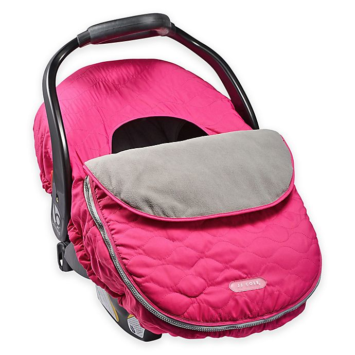 Alternate image 1 for JJ Cole® Car Seat Cover in Sassy Pink Wave