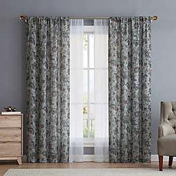 VCNY Avon 4-Piece Rod Pocket Window Curtain Panel Set