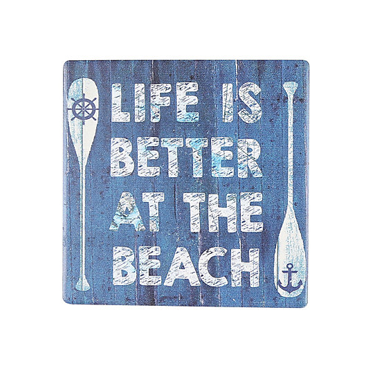 Alternate image 1 for Thirstystone® Occasions Life Is Better At The Beach Square Coaster