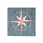 Thirstystone® Occasions Nautical Plank Compass Square Coaster