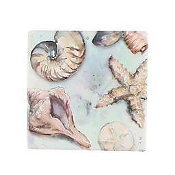 Thirstystone® Occasions Watercolor Shell Toss II Square Coaster