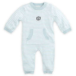 Elegant Baby® Size 3-6M Striped Coverall in Blue