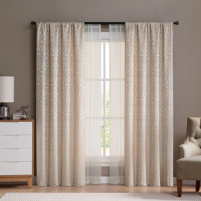 Alternate image 1 for VCNY Villa Rod Pocket Window Curtain Panels (Set of 4)