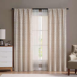 VCNY Villa Rod Pocket Window Curtain Panels (Set of 4)