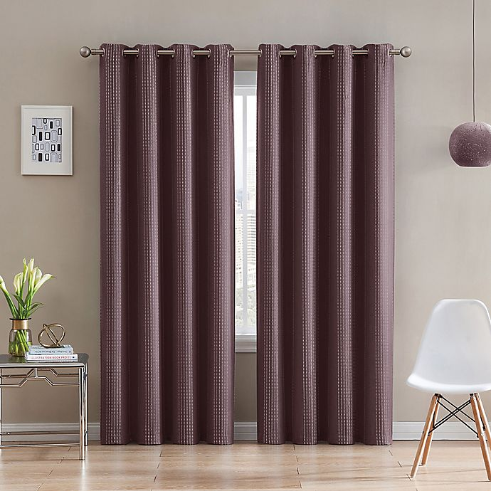 Alternate image 1 for Morse Code 95-Inch Grommet Top Window Curtain Panel in Brick