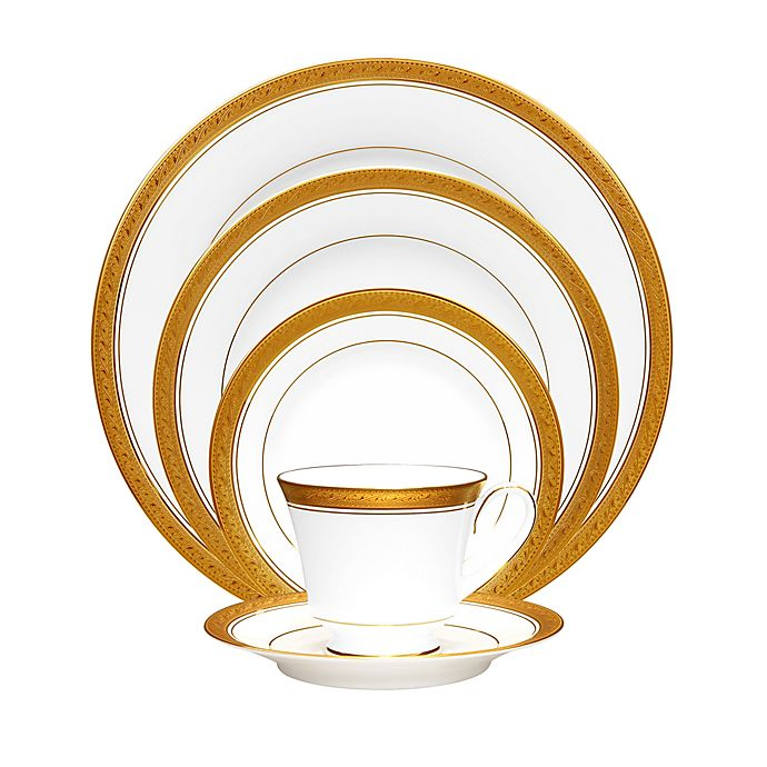 Alternate image 1 for Noritake® Crestwood Gold Dinnerware Collection