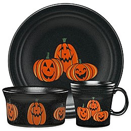 Fiesta® Halloween Trio of Happy Pumpkins Dinnerware Collection