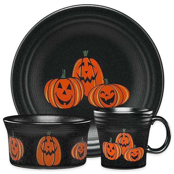 Alternate image 1 for Fiesta® Halloween Trio of Happy Pumpkins Dinnerware Collection