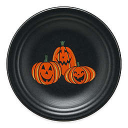 Fiesta® Halloween Trio of Happy Pumpkins Luncheon Plate in Black