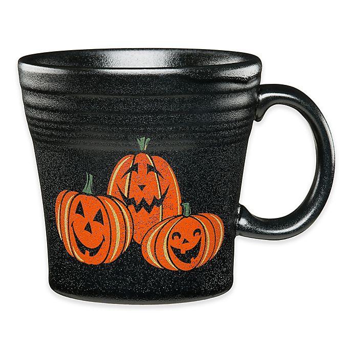 Alternate image 1 for Fiesta® Halloween Trio of Happy Pumpkins Tapered Mug in Black