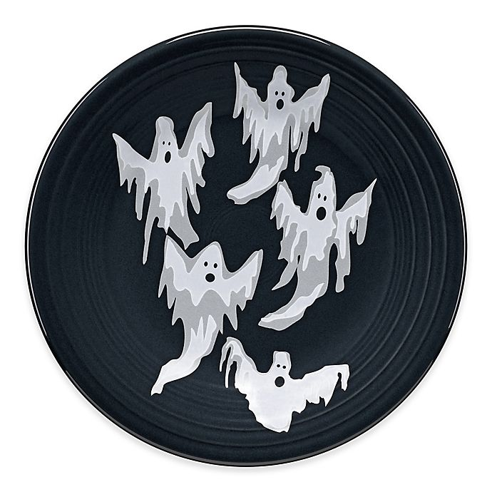 Alternate image 1 for Fiesta® Halloween Ghosts Luncheon Plate in Black