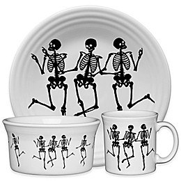 Fiesta® Halloween Trio of Skeletons Dinnerware Collection