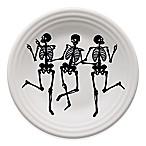Fiesta® Halloween Trio of Skeletons Luncheon Plate in White