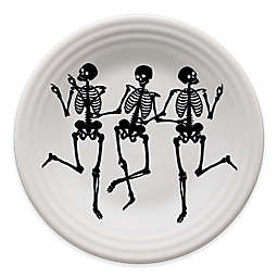 Fiesta® Halloween Trio of Skeletons Luncheon Plate in White