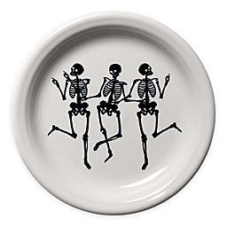 Fiesta® Halloween Trio of Skeletons Appetizer Plate in White