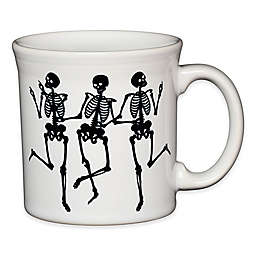 Fiesta® Halloween Trio of Skeletons Java Mug in White