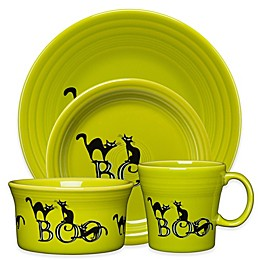 Fiesta® Halloween Trio of Boo Cats Dinnerware Collection