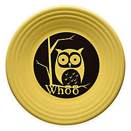 Fiesta® Halloween Whoo Owl Luncheon Plate in Yellow
