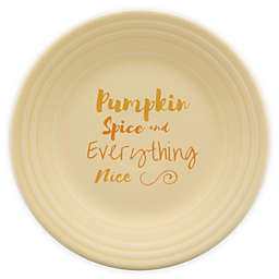 Fiesta® Halloween Pumpkin Spice Luncheon Plate in Cream