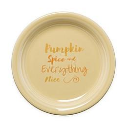 Fiesta® Halloween Pumpkin Spice Appetizer Plate in Cream