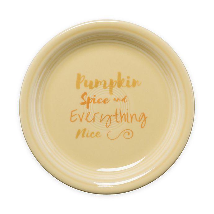 Alternate image 1 for Fiesta® Halloween Pumpkin Spice Appetizer Plate in Cream