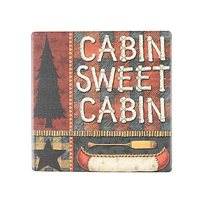 Thirstystone® Occasions Cabin Sweet Cabin Square Coaster