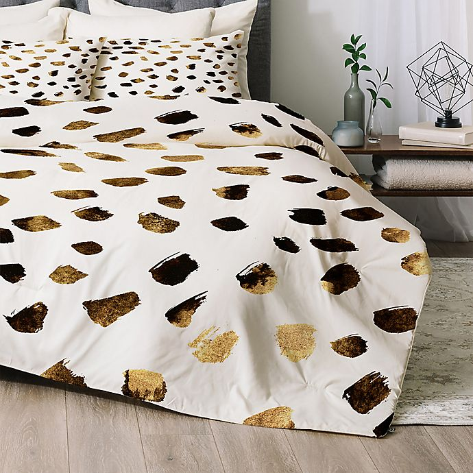 Alternate image 1 for Deny Designs Gold V03 Twin/Twin XL Comforter Set in Gold