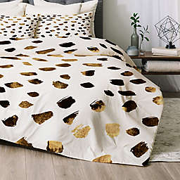 Deny Designs Gold V03 2-Piece Twin/Twin XL Comforter Set in Gold