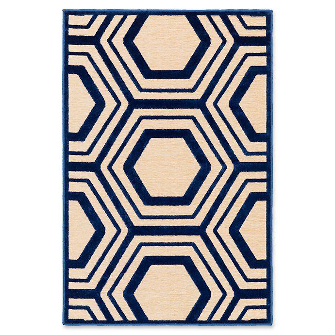 Alternate image 1 for Surya Covina Geometric 2'2 x 3' Accent Rug in Dark Blue