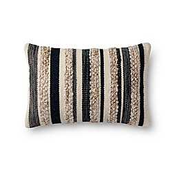 Magnolia Home by Joanna Gaines Zander Oblong Throw Pillow in Charcoal/Ivory