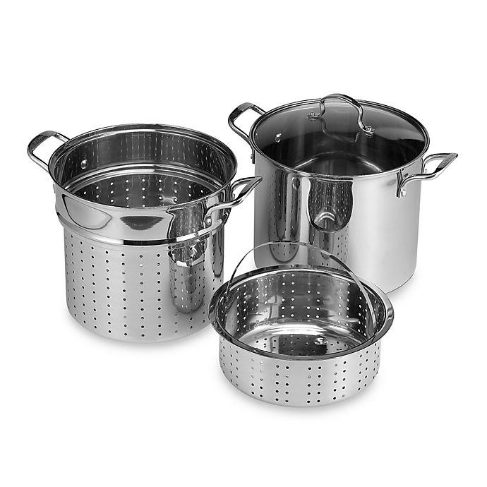 Alternate image 1 for Denmark® Stainless Steel 12-Quart 4-Piece Multi-Cooker Set