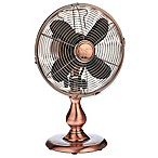 Deco Breeze® 9-Inch 3-Speed Copper Table Fan