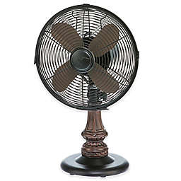 Deco Breeze® 9-Inch 3-Speed Harrison Table Fan in Bronze