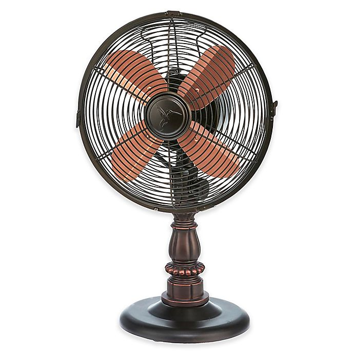 Deco Breeze 174 9 Inch 3 Speed Kipling Table Fan In Copper