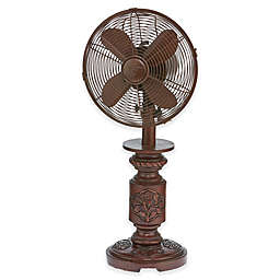 Deco Breeze® 9-Inch 3-Speed Mila Table Fan in Brown