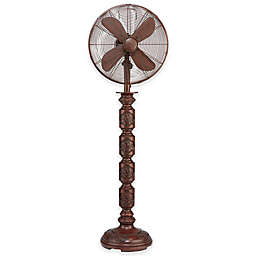 Deco Breeze® Mila 12-Inch 3-Speed Oscillating Floor Fan in Brown