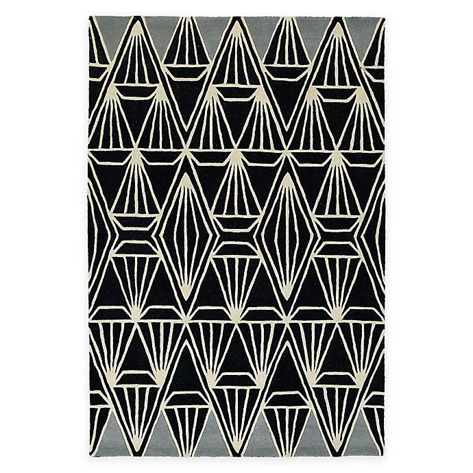 Alternate image 1 for Kaleen Origami Prism 5-Foot 7-Inch x 6-Foot Area Rug in Black
