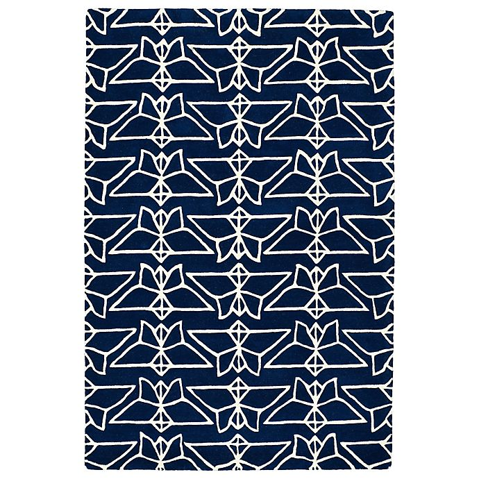 Alternate image 1 for Kaleen Origami Wings 3-Foot 6-Inch x 5-Foot 3-Inch Area Rug in Navy