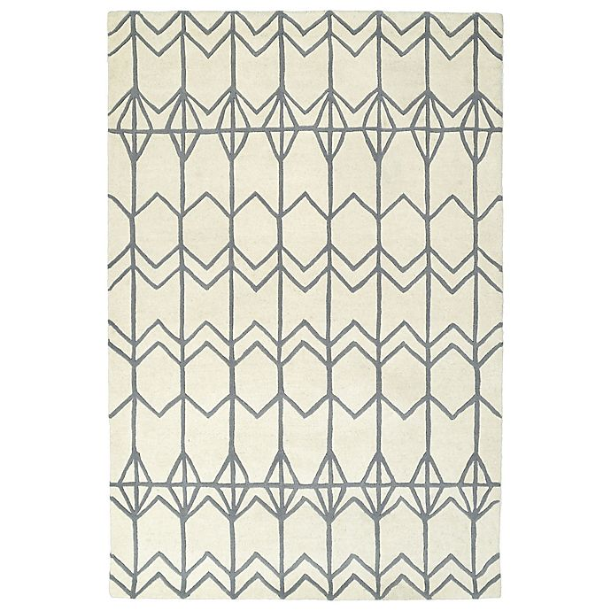Alternate image 1 for Kaleen Origami Fences 3-Foot 6-Inch x 5-Foot 3-Inch Area Rug in Ivory