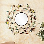 Southern Enterprises 32.5-Inch Metallic Leaf Wall Mirror